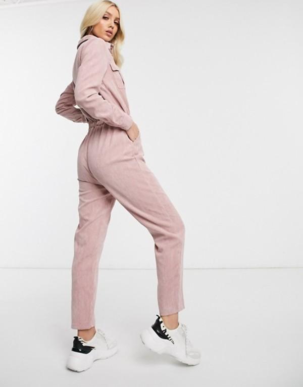 ミスガイデッド レディース ワンピース トップス Missguided cord utility jumpsuit in pink Pink