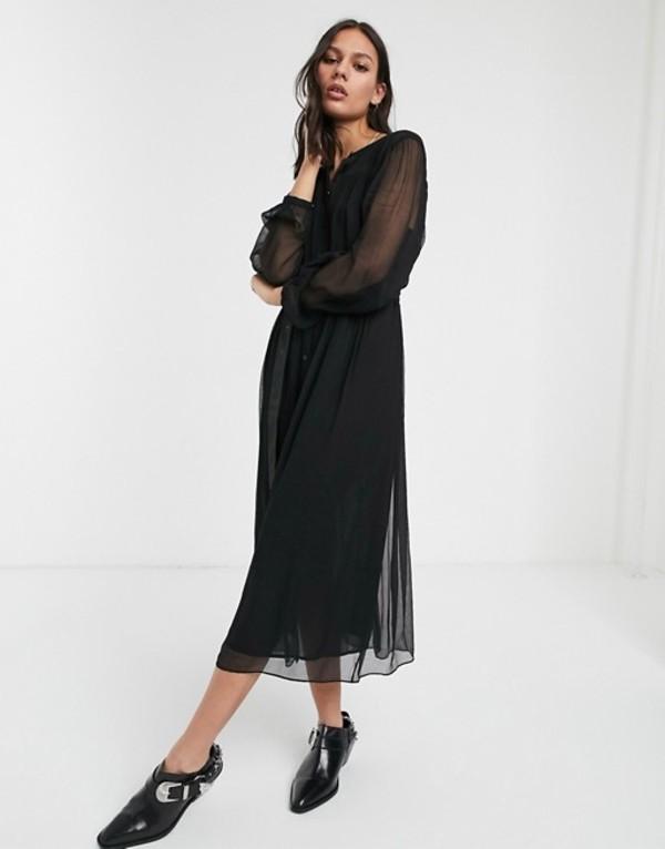 ホイッスルズ レディース ワンピース トップス Whistles bethany belted midi dress Black