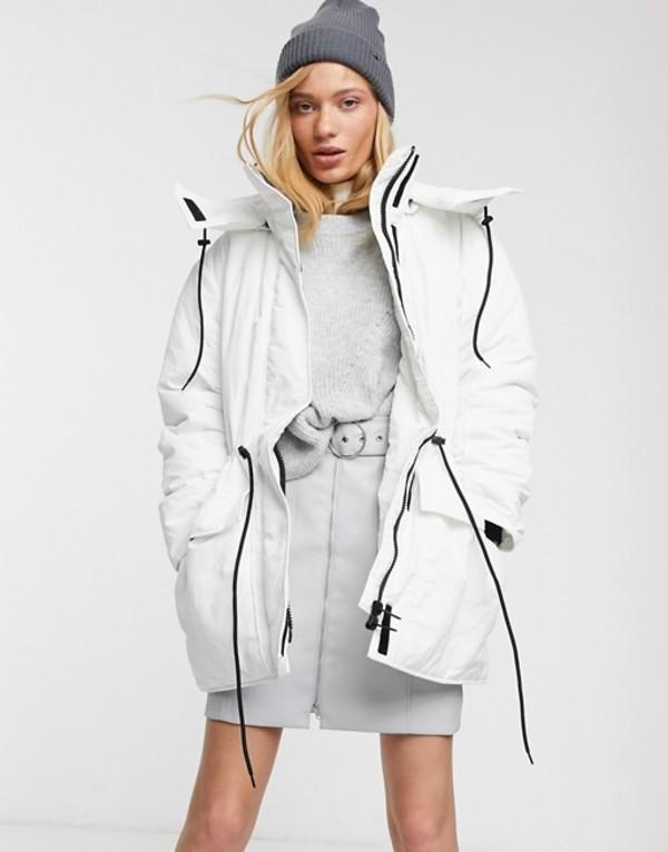 ウィークデイ レディース ジャケット・ブルゾン アウター Weekday Zimbra padded jacket in white White