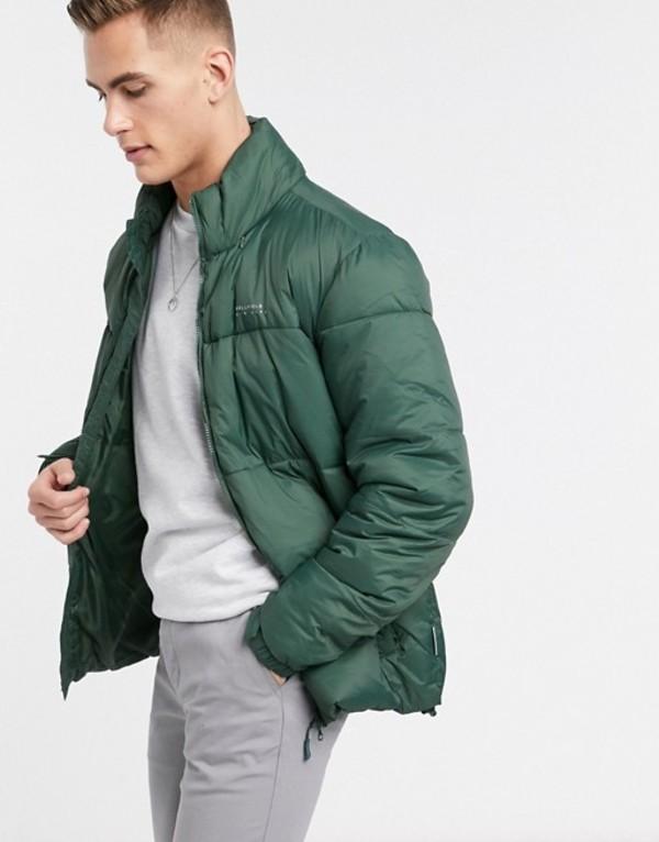 ベルフィールド メンズ ジャケット・ブルゾン アウター Bellfield puffer jacket in green Green