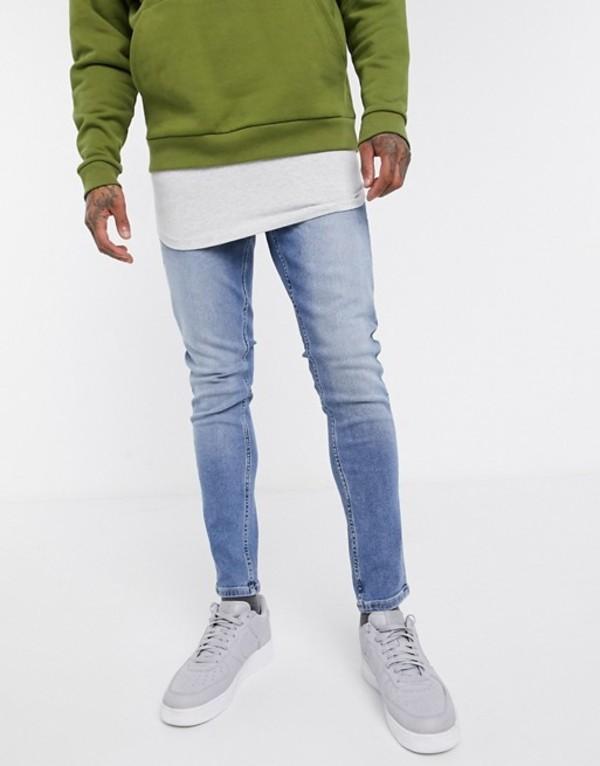 ニュールック メンズ デニムパンツ ボトムス New Look skinny jean in mid blue wash Mid blue