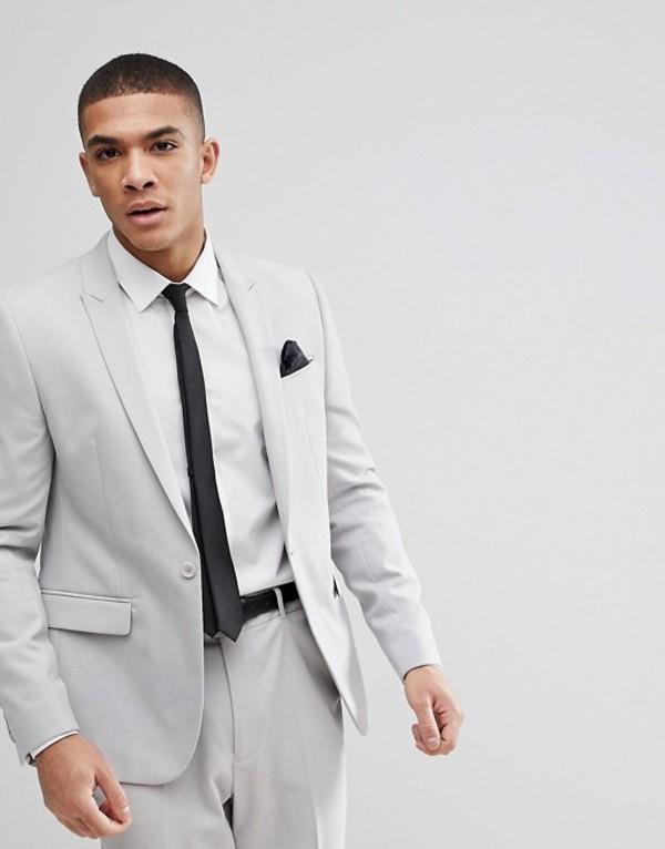 エイソス メンズ ジャケット・ブルゾン アウター ASOS Skinny Suit Jacket In Ice Gray Ice grey