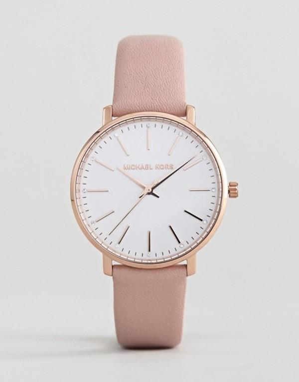 マイケルコース レディース 腕時計 アクセサリー Michael Kors MK2741 Pyper Leather Watch In Pink 38mm Pink