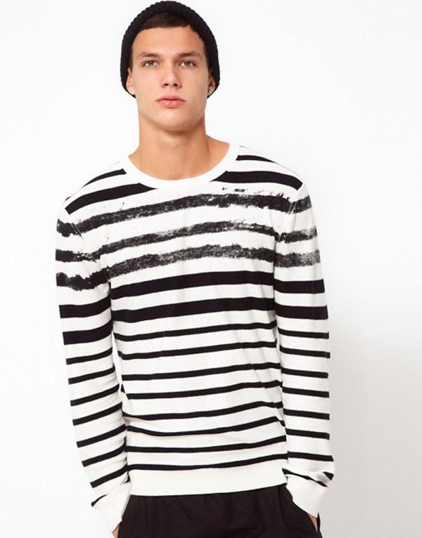 エデュン メンズ ニット・セーター アウター Edun Sweater Stripe Black