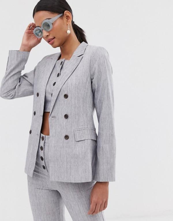 ファッションモンキー レディース ジャケット・ブルゾン アウター Fashion Union double breasted blazer two-piece Gray