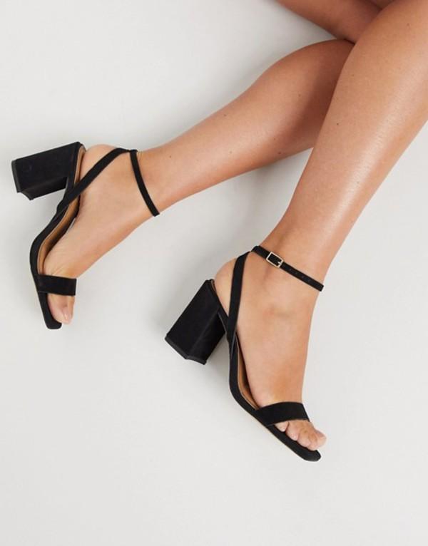 エイソス レディース サンダル シューズ ASOS DESIGN Havana barely there block heeled sandals in black Black