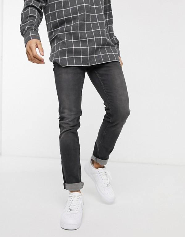 オンリーアンドサンズ メンズ デニムパンツ ボトムス Only & Sons Loom slim fit jeans in washed black Black denim