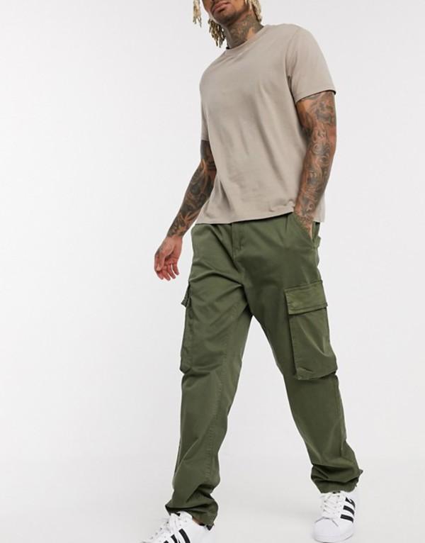 フレンチコネクション メンズ カジュアルパンツ ボトムス French Connection slim fit cargo pants Green