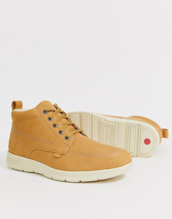 キッカーズ メンズ ブーツ・レインブーツ シューズ Kickers mens kelland leather boot in tan Tan
