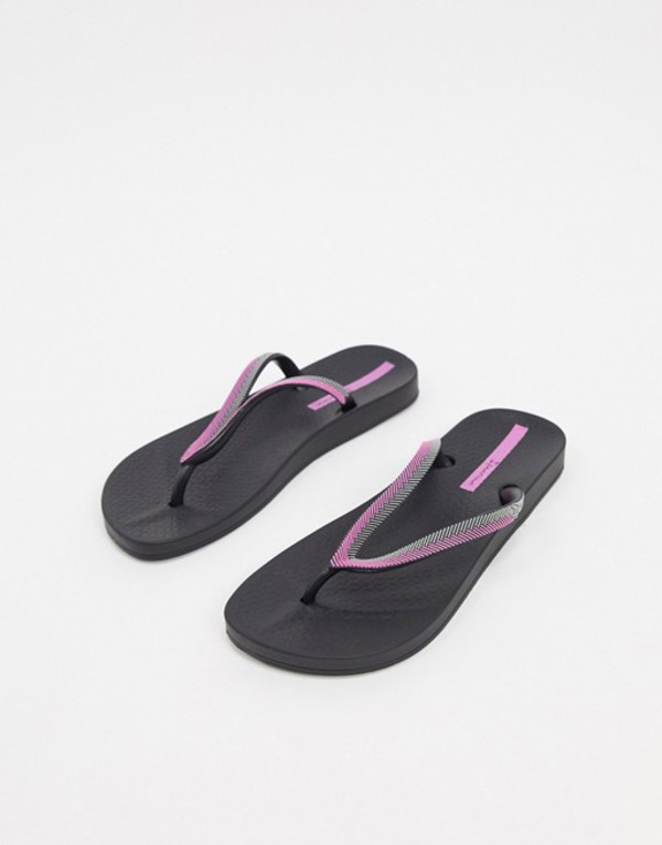 イパネマ レディース サンダル シューズ Ipanema Anatomica Lovely 21 flip flop sandal in black Black