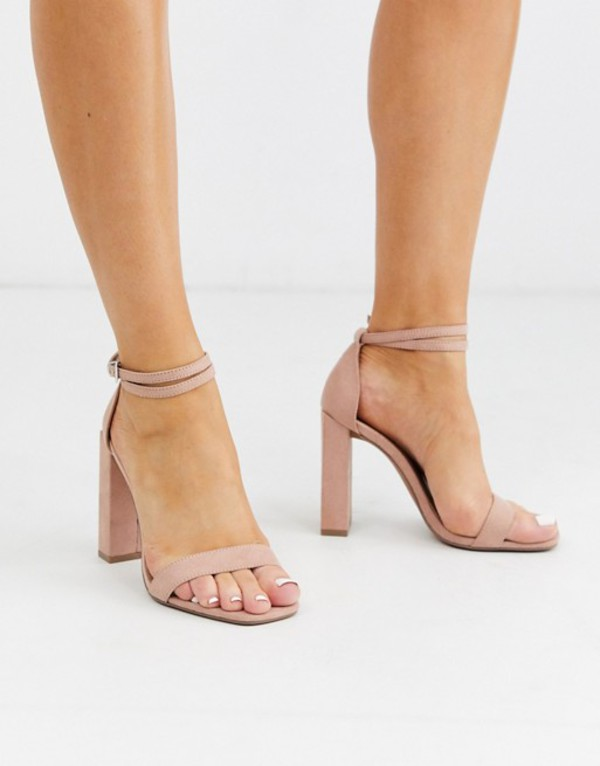 エイソス レディース サンダル シューズ ASOS DESIGN Notice barely there heeled sandals in beige Beige
