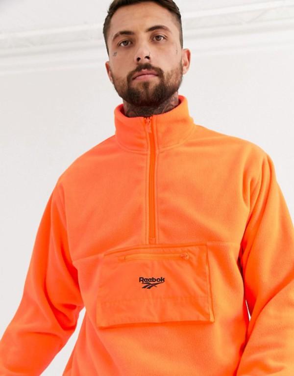 リーボック メンズ ジャケット・ブルゾン アウター Reebok trail fleece jacket in orange Or1 - orange 1