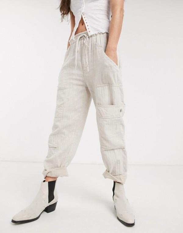 フリーピープル レディース カジュアルパンツ ボトムス Free People feelin good utility pants Ivory