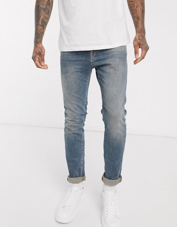 セレクテッドオム メンズ デニムパンツ ボトムス Selected Homme slim stretch fit LEON jeans Light blue