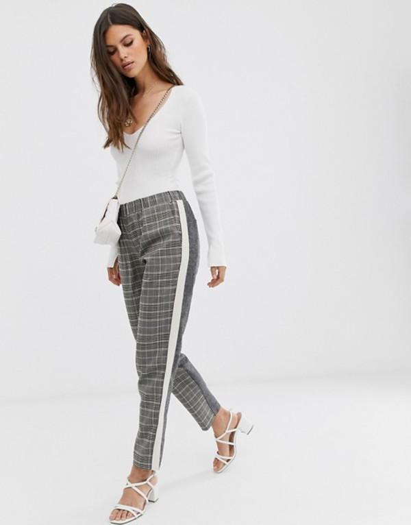 フレンチコネクション レディース カジュアルパンツ ボトムス French Connection tailored pants in check Gray multi
