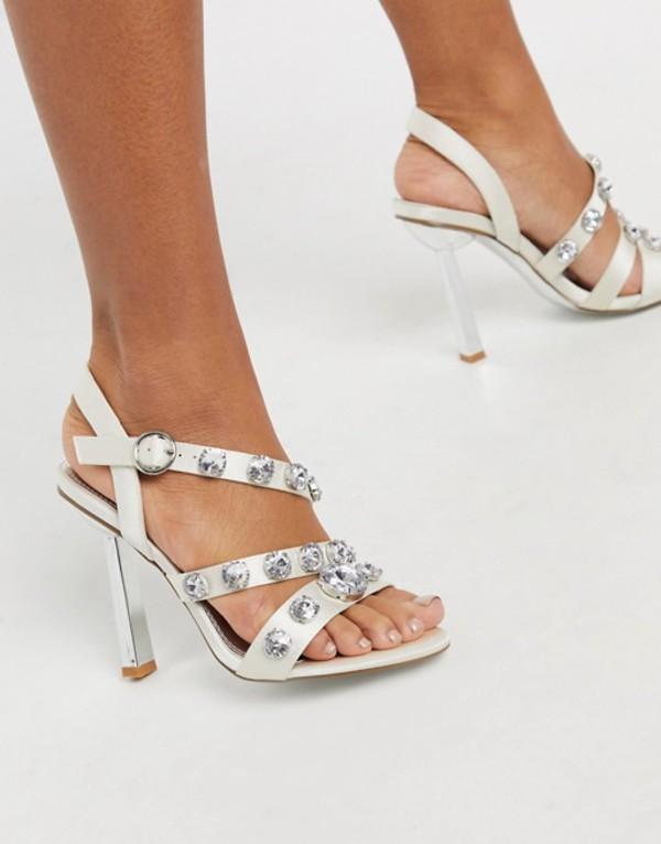 エイソス レディース サンダル シューズ ASOS DESIGN Novella embellished heeled sandals in ivory Ivory
