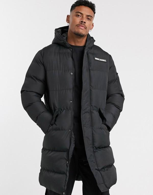 ナイト アディクト メンズ コート アウター Night Addict longline puffer coat Black