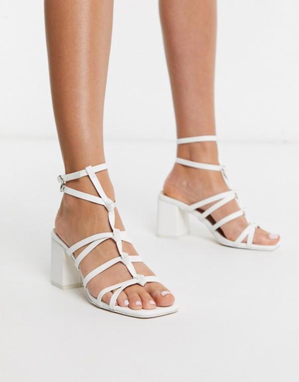 パブリックデザイア レディース サンダル シューズ Public Desire Zizi knotted block heel sandal in white White