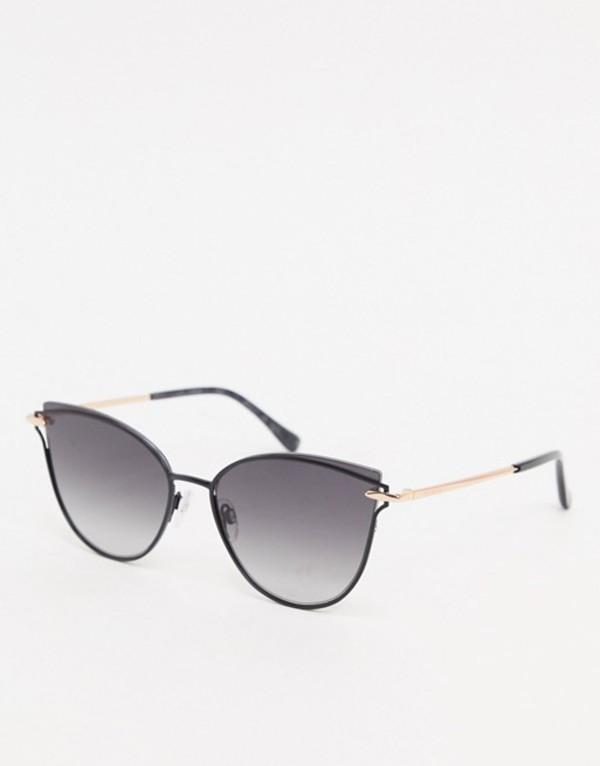 テッドベーカー レディース サングラス・アイウェア アクセサリー Ted Baker cat eye sunglasses in black Black