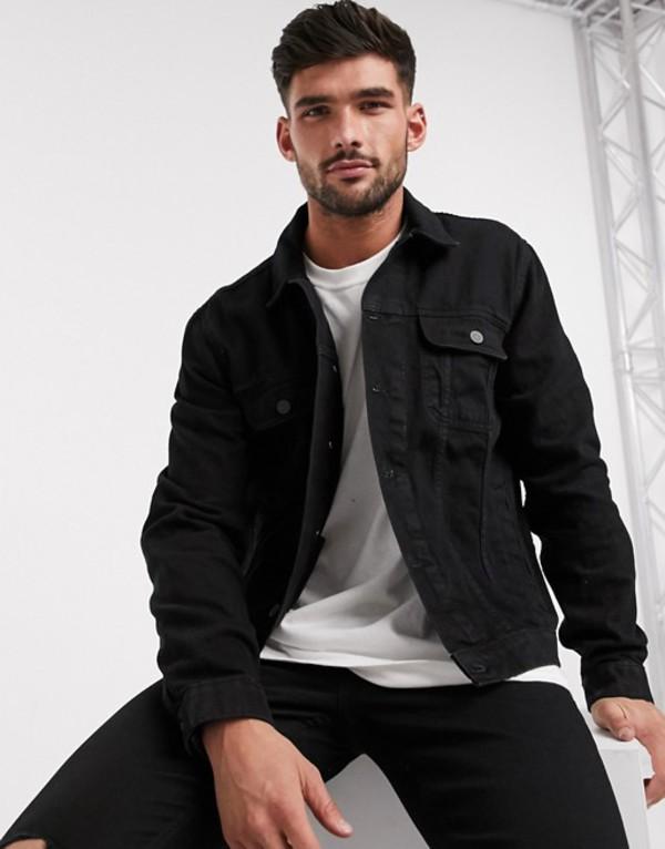 エイソス メンズ ジャケット・ブルゾン アウター ASOS DESIGN regular western denim jacket in black Black