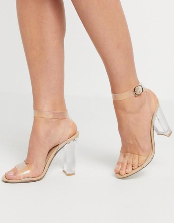 スティーブ マデン レディース ヒール シューズ Steve Madden Camille clear block heel sandal Clear