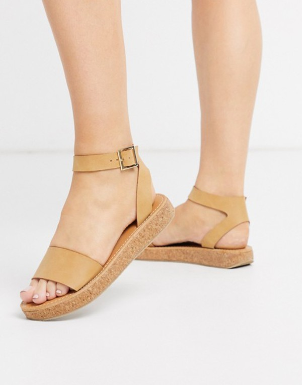 エイソス レディース サンダル シューズ ASOS DESIGN Forlong chunky flatform sandals in natural Natural