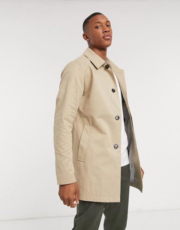ジャック アンド ジョーンズ メンズ ジャケット・ブルゾン アウター Jack & Jones Premium classic twill mac in stone Classic twill beige