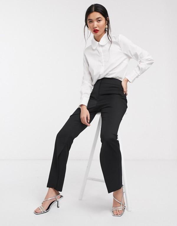 エイソス レディース カジュアルパンツ ボトムス ASOS WHITE split hem suit pants Black