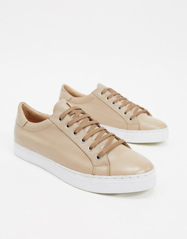 ルールロンドン メンズ スニーカー シューズ Rule London leather sneaker in beige Beige