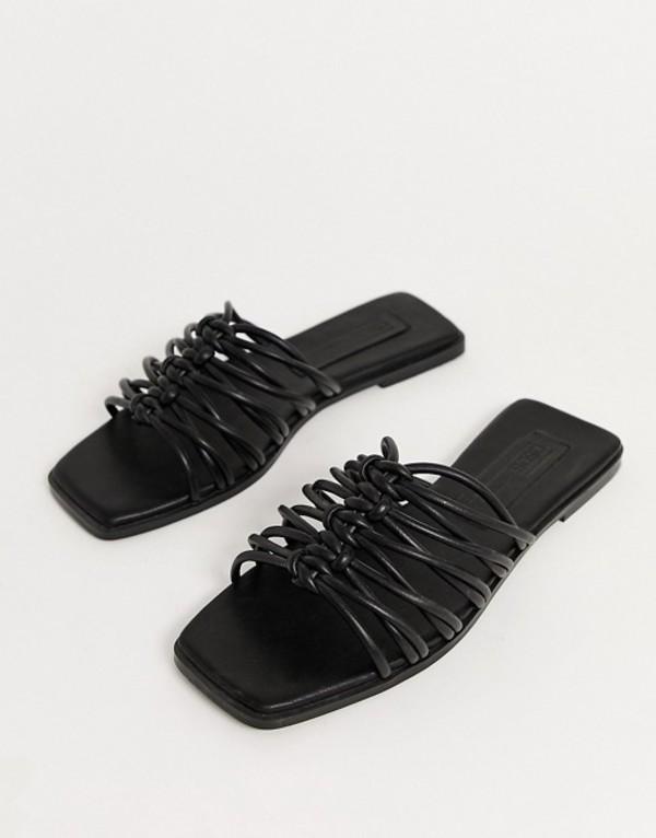 エイソス レディース サンダル シューズ ASOS DESIGN Frankfurt multi knot mule sandals in black Black