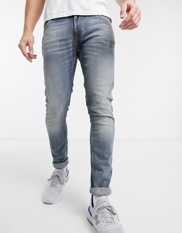 ヌーディージーンズ メンズ デニムパンツ ボトムス Nudie Jeans Skinny Lin skinny fit jeans in misty blue Blue