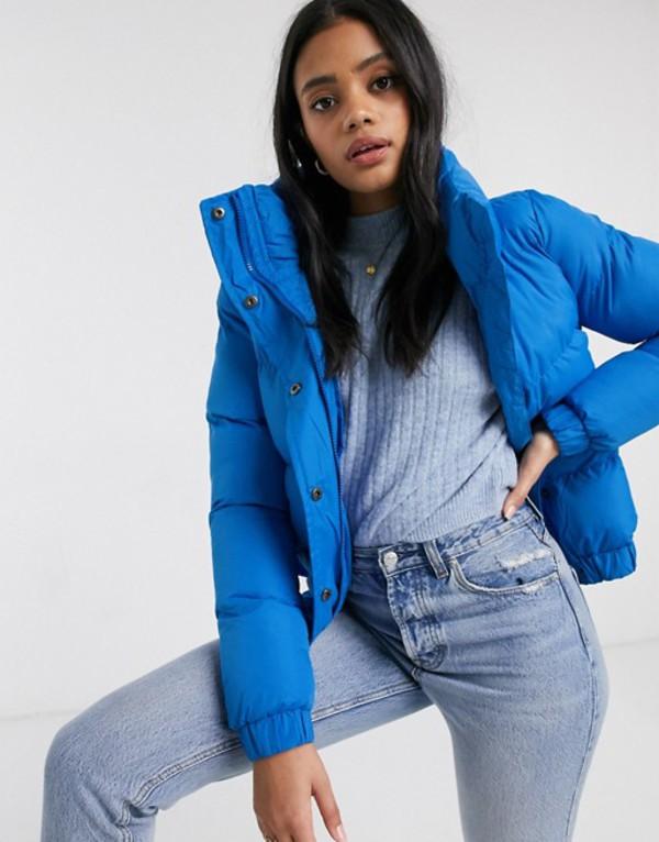 ブレーブソウル レディース コート アウター Brave Soul slay padded coat Mid blue