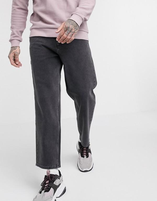 リクレイム ヴィンテージ メンズ デニムパンツ ボトムス Reclaimed Vintage classic fit jeans in washed black Black