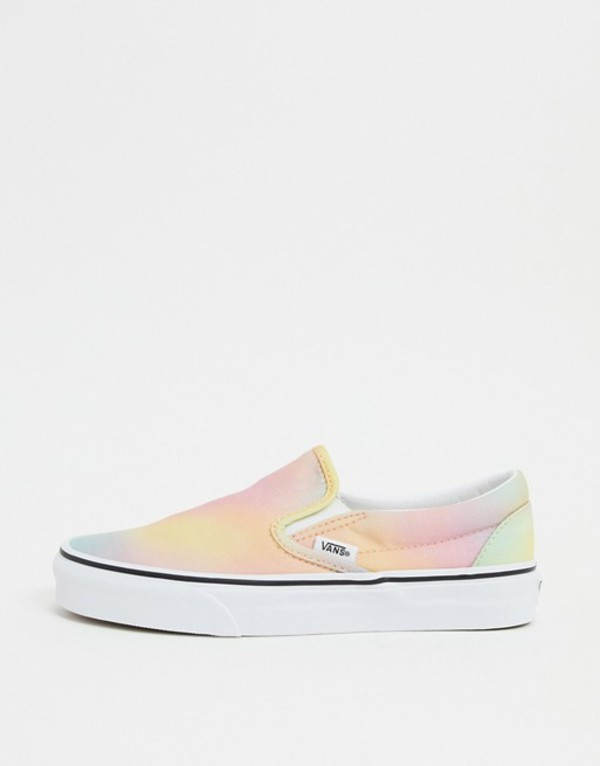 バンズ レディース スニーカー シューズ Vans Classic Slip-On Tie Dye sneaker in multi Aura shift multi/tru