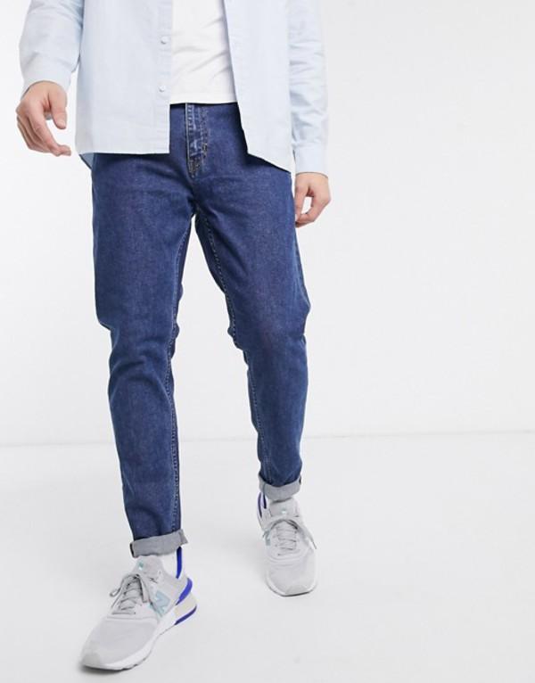 ウィークデイ メンズ デニムパンツ ボトムス Weekday Cone slim tapered jeans  in blue Blue