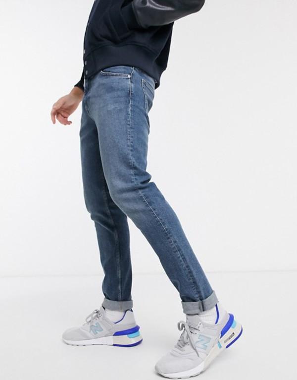 ウィークデイ メンズ デニムパンツ ボトムス Weekday Friday slim jeans in blue Blue