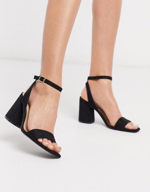 ストラディバリウス レディース サンダル シューズ Stradivarius black heel sandal Black