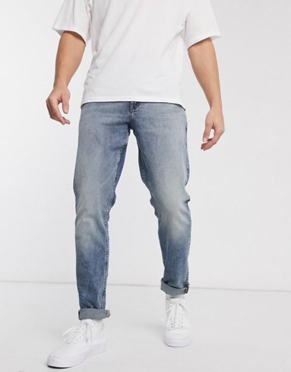 エイソス メンズ デニムパンツ ボトムス ASOS DESIGN stretch slim jeans in vintage dark wash blue Dark wash blue