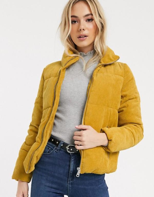 ジェイディーワイ レディース ジャケット・ブルゾン アウター JDY Lexa padded corduroy jacket Yellow