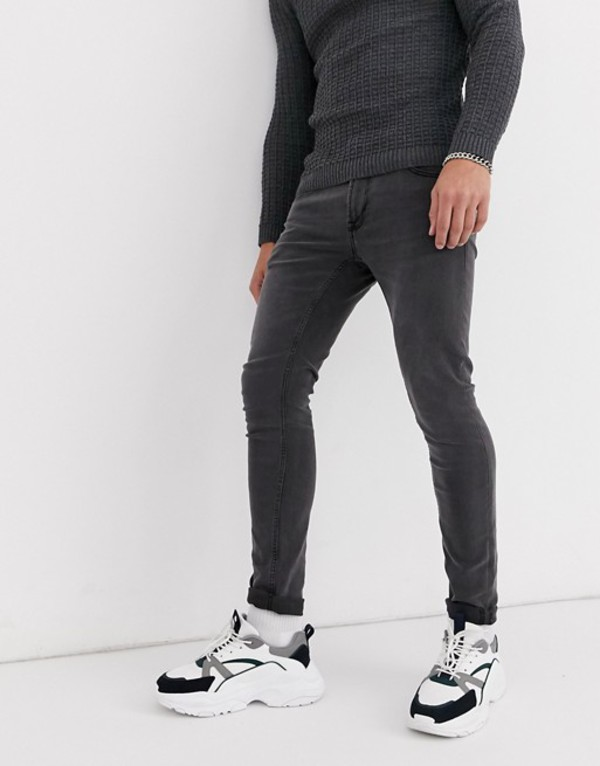 オンリーアンドサンズ メンズ デニムパンツ ボトムス Only & Sons super skinny jeans in gray wash Gray denim
