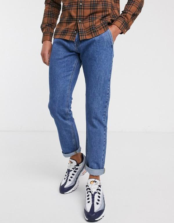 ジャック アンド ジョーンズ メンズ デニムパンツ ボトムス Jack & Jones Intelligence comfort fit carpenter jeans in vintage wash Blue denim