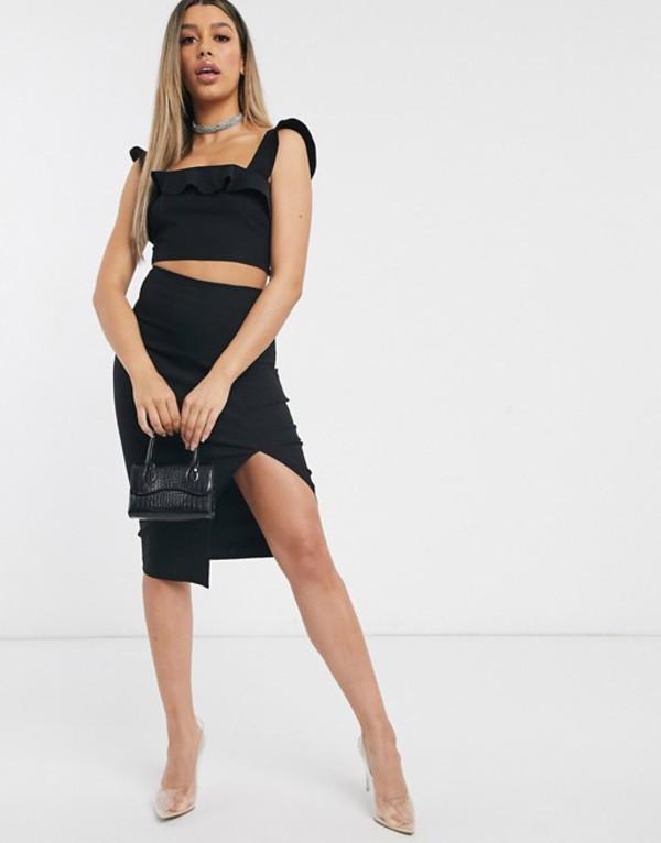 ベスパー レディース スカート ボトムス Vesper midi skirt two-piece in black Black
