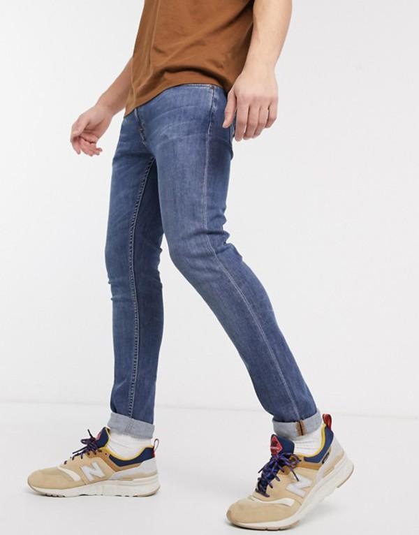 ヌーディージーンズ メンズ デニムパンツ ボトムス Nudie Jeans Co Skinny Lin skinny fit jeans in dark blue navy Blue