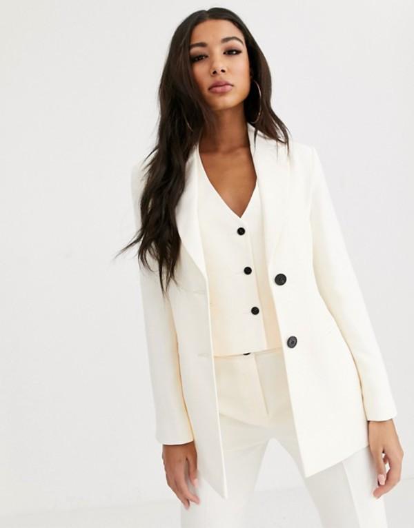 エイソス レディース ジャケット・ブルゾン アウター ASOS DESIGN pop suit blazer in ivory Ivory