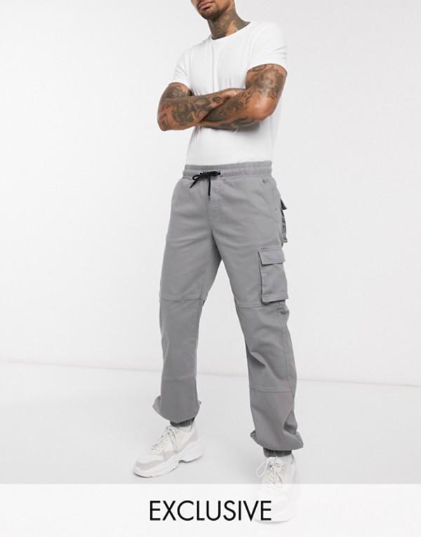 ハートアンドダガー メンズ カジュアルパンツ ボトムス Heart & Dagger cargo pants in washed gray Gray
