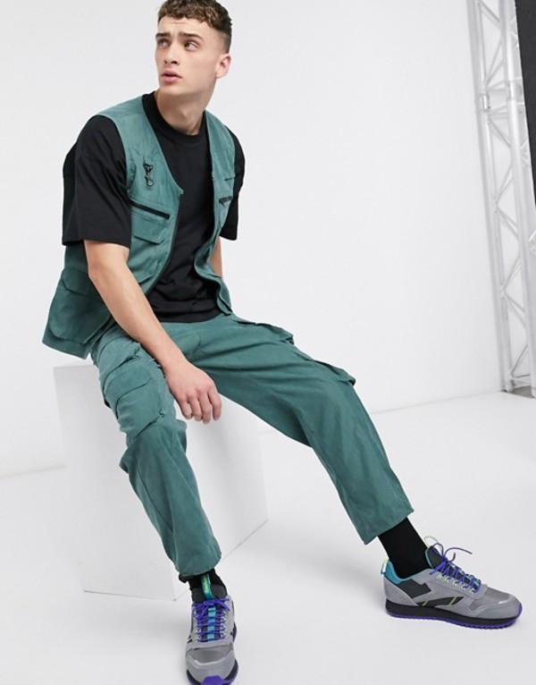 ザラグドプリースト メンズ カジュアルパンツ ボトムス The Ragged Priest two-piece utility pants in green Green