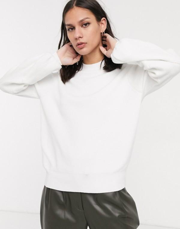 セレクティッド レディース ニット・セーター アウター Selected Femme sweater with balloon sleeve in white White
