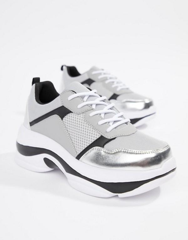 トリュフコレクション レディース スニーカー シューズ Truffle Collection Chunky Sneakers Gray multi