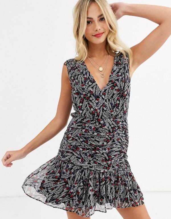スティービーメイ レディース ワンピース トップス Stevie May marsellies sleevelss printed mini dress Persimmon floral