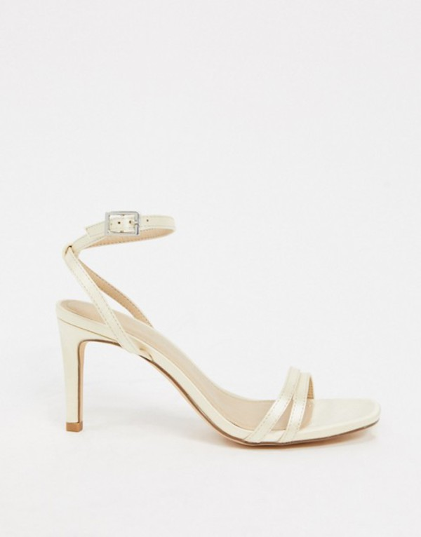 トリュフコレクション レディース サンダル シューズ Truffle Collection bridal square toe strappy heeled sandals in ivory Ivory